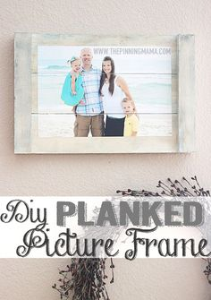 You can make this awesome shabby chic planked picture frame in just a few steps! It is the perfect way to add a personal touch to your home decor with a just few minutes and a few dollars! Earlier…