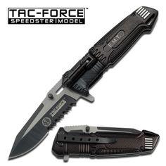 TacForce Speedster EMT EMS Folding Pocket Rescue Knife Serrated LED Light -- You can get additional details at the image link.Note:It is affiliate link to Amazon.