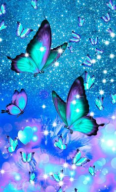 Purple Butterfly Wallpaper, Glittery Wallpaper, Flower Phone Wallpaper, Neon Wallpaper, Cute Wallpaper Backgrounds, Pretty Wallpapers, Colorful Wallpaper, Cellphone Wallpaper, Butterfly Painting