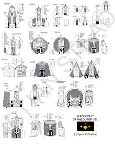 Various starship designs for Traveller Spaceship Images, Spaceship Art, Spaceship Design, Firefly Ship, Star Trek Rpg, Ship Map, Alien Concept Art, Sci Fi Ships, Concept Ships