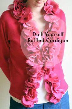 DIY Ruffle : DIY J Crew Astrid Sweater with Ruffles   : DIY Clothes DIY Refashion