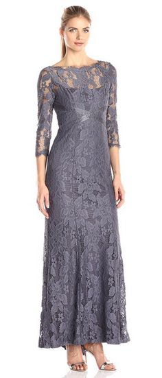 Women's Lace Gown with Beaded Banding. $342.09 #Reign_Forest_Collection #Partydress_Collection #Women_Fashion