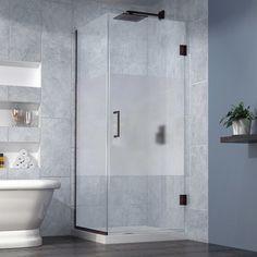 "DreamLine Unidoor Plus 30""x30.375""x72"" Shower Enclosure, Oil Rubbed Bronze modern-shower-stalls-and-kits"