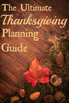 The Ultimate Thanksgiving Planning Guide: Collection of Food, Beverages, Recipes, Crafts, Entertainment, Shopping List & More that will help you plan the Thanksgiving of Your Dreams!