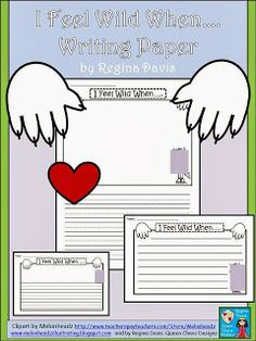 FREEBIE: I Feel Wild When....Writing Paper...Download shows full clip art. Great to go with Where The Wild Things Are. http://fairytalesandfictionby2.blogspot.com/