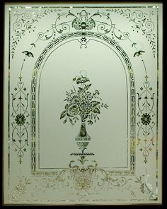 Edwardian etched glass door reproduction. Stirling, Scotland. www.rdwglass.com