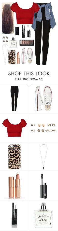 """Untitled #1009"" by noelleelisexo ❤ liked on Polyvore featuring Topshop, Converse, River Island, Wet Seal, Kate Spade, Forever 21, Charlotte Tilbury, NARS Cosmetics, Dolce&Gabbana and Bella Freud"