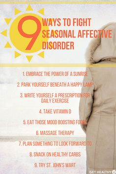Are you suffering from Seasonal Affective Disorder? Check out these 9 Ways to Fight Seasonal Affective Disorder! Winter is tough on our bodies AND our minds, but with these tricks you can avoid some of those pesky symptoms! Check them ou Ways To Fight Depression, Depression Recovery, Beating Depression, Fighting Depression, Coping With Depression, Overcoming Depression, Depression Support, Test Anxiety, Anxiety Causes