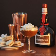 Dee-Lish: Grand Marnier, Dark Rum, Strong Chilled Coffee.