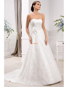 Traîne mi-longue Printemps Sans manches Robes de mariée 2014