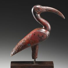 A Statuette of an Ibis.   Egypt, Late Period, 26th-30th Dynasty, 6th-4th cent. B.C.