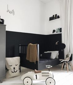 Cool & Stylish Black Wall for Kid's Room Design Ideas - Page 12 of 28