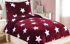 Oblieček Mikrovlákno a Mikroflanel Stars vínová, i-matrace. Comforters, Blanket, Stars, Bed, Furniture, Home Decor, Creature Comforts, Quilts, Decoration Home