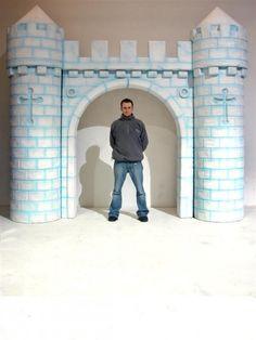 aqua and white castle backdrop photobooth
