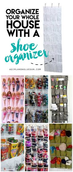 organize your whole house with a cheap over the door shoe organizer