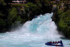 all waterfalls all over   Huka Falls Jet boat at the Huka Falls. North Island, New Zealand ...