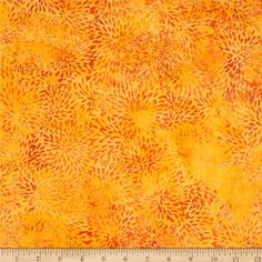 Island Batik Rayon Batik Candy Corn Orange