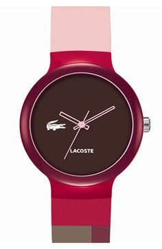 Lacoste 'Goa' Colorblock Silicone Strap Watch available at #Nordstrom