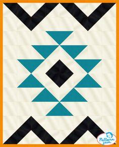 eazy peezy baby quilt - custom quilt designed by using PatternJam quilt design software Star Quilt Patterns, Star Quilts, Quilt Blocks, Barn Quilt Designs, Quilting Designs, Weaving Projects, Quilting Projects, Arrow Quilt, Southwestern Quilts