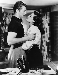 HIS KIND OF WOMAN (1951) - Robert Mitchum and Jane Russell - RKO-Radio - Publicity Still.
