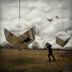 Think outside the box!   (Работы Erik Johansson:  30 фото - 4.44Mb, Фото, рисунки)