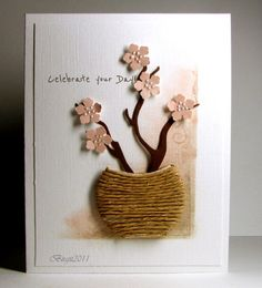 Love the simple creativeness of this.  The basket makes a cute embellishment for a handmade card.