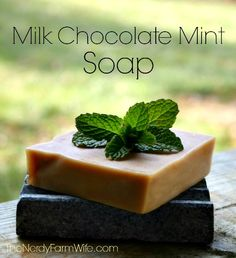 Homemade Milk Chocolate Mint Soap Recipe. What in the name of wonderful goodness is this?!?!
