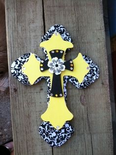 decorative wooden crosses | Wall Crosses/Decor by bbawcom on Etsy