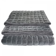 Shop one of our quilted grey bed covers in cotton velvet - check out the other colours in this series or more textiles from Little Luxury Home Grey Bed Covers, Grey Bedding, Cotton Velvet, Home Textile, Bed Spreads, Home Furnishings, Luxury Homes, Ottoman, Interiors