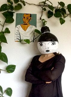 paper mache mask by molekuele (Sonja Markram) Paper Clay, Paper Art, Sculpture Clay, Sculptures, Paper Mache Mask, Objects, Toys, Face, Animals