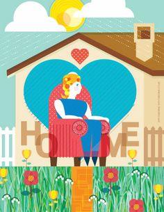 Home Illustration for houseraiser.ca