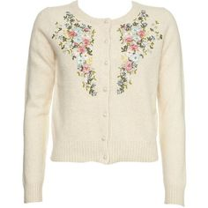 Embroidered Cardigans (this one's from Topshop) Shirt Embroidery, Embroidery Fashion, Embroidery Designs, Cardigan Shirt, Embroidered Clothes, Embroidered Tops, Fashion Fabric, Women's Fashion, Couture