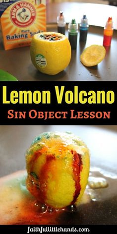 Adam and Eve Sin Object Lesson Lemon Volcano.