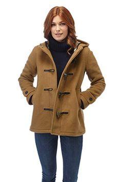 Women s Leyton Classic Short Duffle Coat Horn Toggles Camel-M ec6227e6dcf