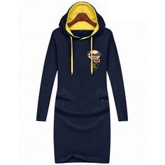 Winter Hooded Long Sleeve Dress - Hoodie Dress - I Sell Goods - 1