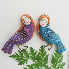 VK is the largest European social network with more than 100 million active users. Beaded Embroidery, Cross Stitch Embroidery, Bead Crafts, Arts And Crafts, Textile Fiber Art, Bird Toys, Plush Dolls, Doll Face, Wool Felt