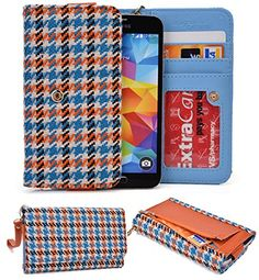 Oppo Find 5:universal Case Clutch W/id Slot, Zipperpocket[orange/blue/white] Nuvur ™ http://www.smartphonebug.com/accessories/cool-17-oppo-find-5-cases-and-covers/