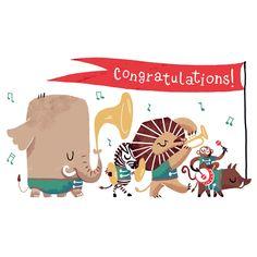 Congratulations illustration by Carolina Buzio
