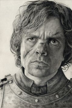 Pencil Drawing of Tyrion Lannister from Game of Thrones.