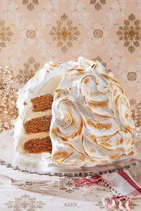 Christmas Dessert Recipes: Gingerbread Baked Alaska