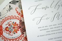 The classic calligraphy gives this invitation an understated elegance