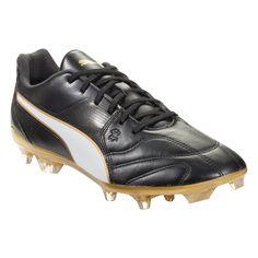 23c3c7b6 PUMA Capitano II FG Firm Ground Soccer Cleat Black/White/Gold-12.5 Black