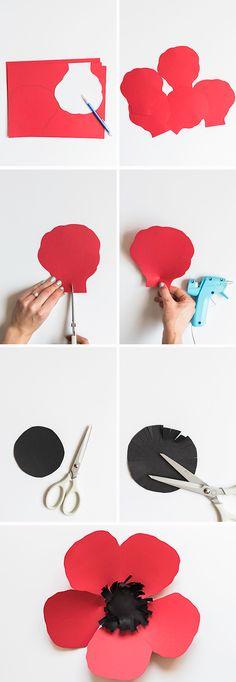 DIY Paper Poppy Backdrop