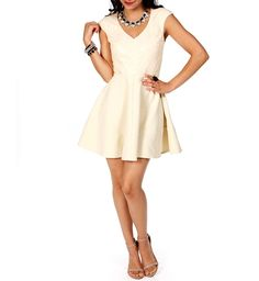 Ivory Cap Sleeve Sequin Dress