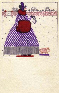 828. Fritzi Löw - Wiener Werkstatte postcard