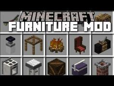 Minecraft FURNITURE MOD / BRAND NEW HOUSE OUTDOOR FURNITURE AND TRAMPOLINE!! Minecraft - YouTube Minecraft Mods, Mojang Minecraft, Minecraft Anime, Minecraft Creations, Minecraft Houses, Minecraft Stuff, Minecraft Ideas, Mcpe Furniture Mod, Outdoor Furniture