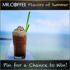 Is Grasshopper Fudge your favorite flavor of frappe? You could win a Mr. Coffee® Café Frappe! Enter our Pinterest contest today -- visit us on http://on.fb.me/1qsda4s to enter. Contest ends 7/25/14. Good luck and don't forget to click the pin to see the recipe! #MrCoffee #Coffee #summer #contest #pintowin [Promotional Pin]