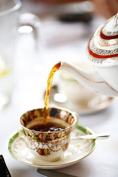Pouring a cup of tea is the beginning to solving problems...