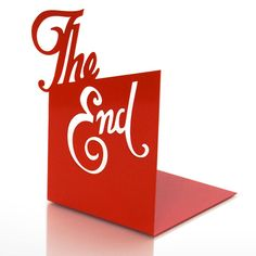 'the end' bookend from bouf $30