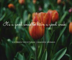 12|3|2018 #ΗΕξίσωσηΤηςΕυτυχίας #Happiness #DailyHappinessQuote #ΕκδόσειςΧρονικό Good Week, Positive Thoughts, You Changed, Positivity, Make It Yourself, Day, Plants, How To Make, Plant